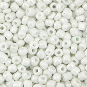 Rocailles 3mm bright white pearl, 15 gram
