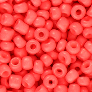 rocailles 4mm coral red, 20 gram
