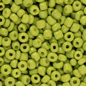 Rocailles 3mm light olive green, 15 gram