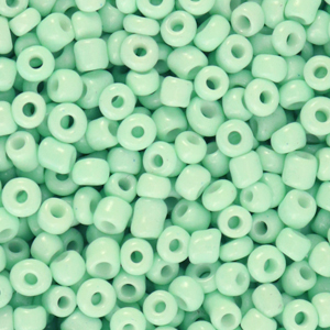 Rocailles 3mm neo mint green, 15 gram