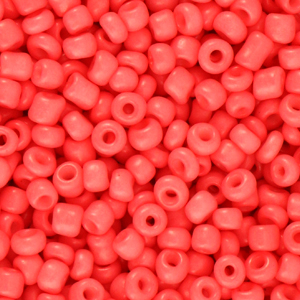 Rocailles 3mm coral red, 15 gram