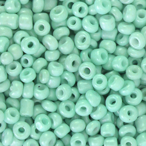 Rocailles 3mm lucite green, 15 gram