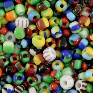 Rocailles 3mm multicolour, 5 gram