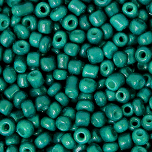 Rocailles 3mm north sea green, 15 gram