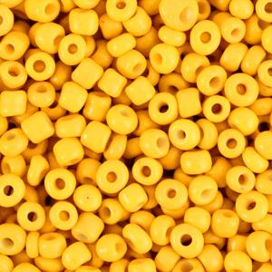 Rocailles 3mm freesia yellow, 15 gram