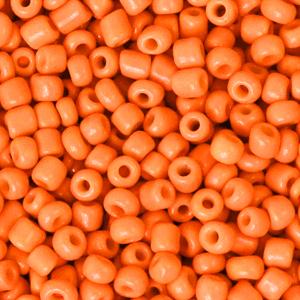 Rocailles 3mm flame orange, 15 gram