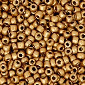 Rocailles 3mm red gold metallic, 15 gram
