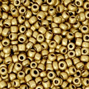 Rocailles 3mm metallic antique gold, 15 gram