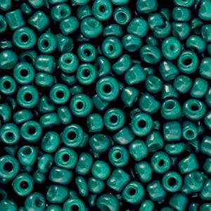 Rocailles 3mm pine green, 15 gram