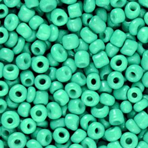 Rocailles 3mm bright jade green, 15 gram