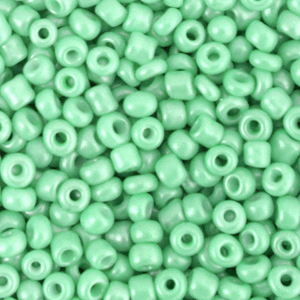 Rocailles 3mm vivid green, 15 gram