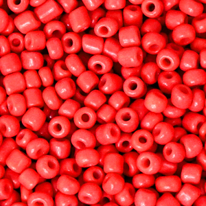 Rocailles 3mm amaranth red, 15 gram