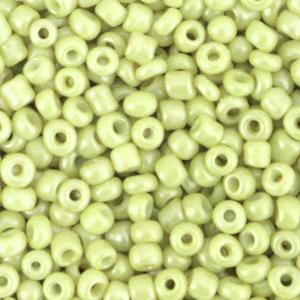 Rocailles 3mm luminary green, 15 gram