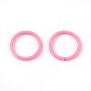 Buigring 10mm hot pink, 4 stuks