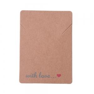 Sieradenkaartjes with love, 5 stuks