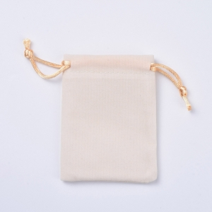 Velvet sieradenzakje 7x9cm white, per stuk