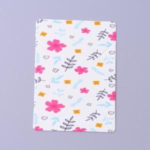 Sieradenkaartjes flower white, 5 stuks