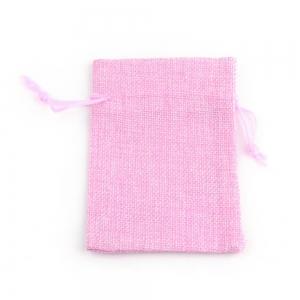 Sieradenzakje 7x9cm roze, per stuk