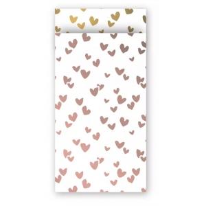 Papieren cadeauzakjes solo hearts 7x13cm, 5 stuks