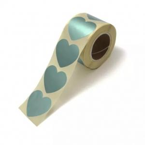 Stickers hearts metallic petrol groot 5cm, 10 stuks