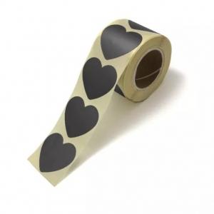Stickers hearts black groot 5cm, 10 stuks
