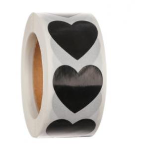 Stickers hearts black klein 2.5cm, 20 stuks