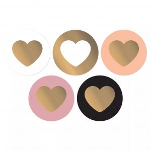 Stickers lovely hearts groot 5cm, 10 stuks