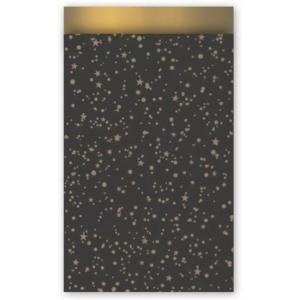 Papieren cadeauzakjes twinkeling stars 12x19, 5 stuks
