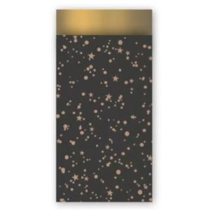 Papieren cadeauzakjes twinkeling stars 7x13cm, 5 stuks