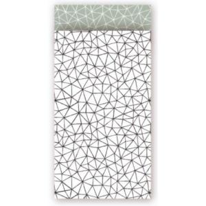 Papieren cadeauzakjes subtle graphics 7x13cm, 5 stuks