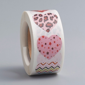 Stickers hearts 2.5cm, 16 stuks