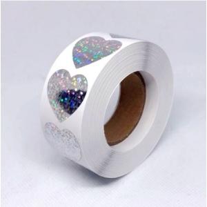 Stickers glitter heart 2.5cm, 10 stuks