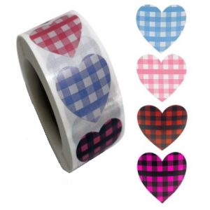 Stickers heart 2.5cm, 20 stuks