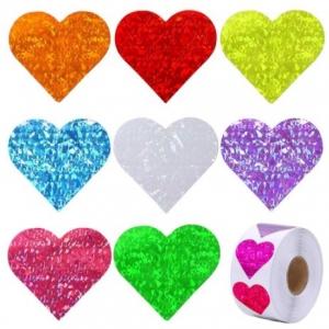 Stickers heart 2.5cm, 16 stuks