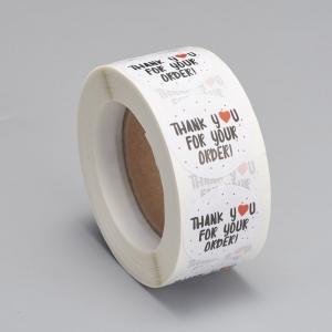 Stickers thank you 2.5cm, 20 stuks