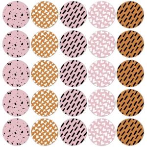 Stickers natural senses groot 5cm, 12 stuks