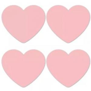 Stickers hearts pink groot 5cm, 10 stuks